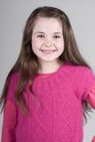 Criança de cabelo bonito de Brown Imagem de Stock Royalty Free