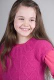 Criança de cabelo bonito de Brown Imagens de Stock Royalty Free