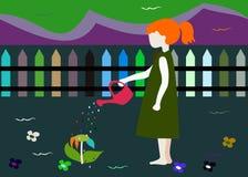 Criança de flor ilustração stock