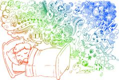 Criança de sonho bonito Imagem de Stock