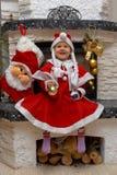 Criança de sorriso de Santa do Natal Imagens de Stock