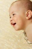 A criança de sorriso despreocupada Imagem de Stock