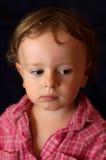Criança depressiva triste Fotos de Stock Royalty Free