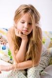 Criança deprimida nova Fotografia de Stock Royalty Free