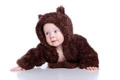 Criança do bebê na peluche fotografia de stock royalty free