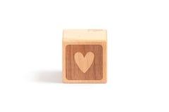 Criança do bloco de madeira fotografia de stock royalty free