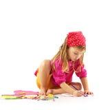 Criança do desenho fotografia de stock royalty free