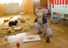 Criança do desenho Foto de Stock