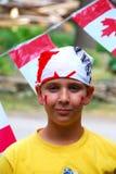 Criança do dia de Canadá fotos de stock royalty free