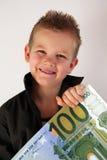 Criança do dinheiro Foto de Stock Royalty Free
