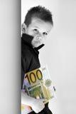 Criança do dinheiro Imagens de Stock