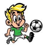 Criança do futebol do futebol Imagens de Stock Royalty Free