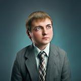Criança do homem de negócios Imagens de Stock Royalty Free