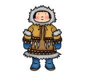 Criança do Inuit Fotos de Stock Royalty Free
