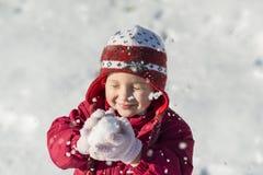 Criança do inverno Fotos de Stock