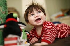 Criança do Natal feliz imagem de stock