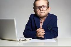 Criança do negócio engraçado imagens de stock