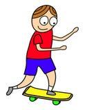 Criança do skate Imagem de Stock
