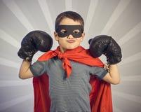 Criança do super-herói fotografia de stock