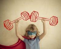 Criança do super-herói Fotos de Stock Royalty Free