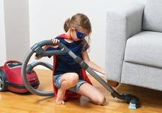 Criança do super-herói Foto de Stock Royalty Free
