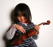 Criança do violino Imagem de Stock Royalty Free