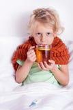 Criança doente Foto de Stock