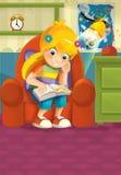 Criança dos desenhos animados - ilustração para as crianças ilustração stock