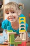 Criança e blocos Fotografia de Stock Royalty Free