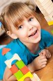 Criança e blocos Fotografia de Stock