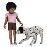 Criança e cão Fotos de Stock Royalty Free