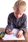 Criança e desenho imagens de stock