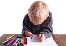 Criança e desenho fotos de stock