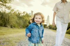 Criança e homem Foto de Stock