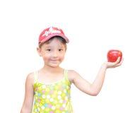 A criança e a maçã Foto de Stock Royalty Free