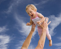 Criança e pai Fotografia de Stock