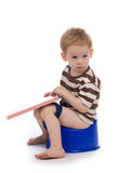 Criança e potty Fotografia de Stock