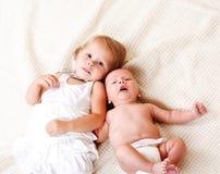 Criança e recém-nascido imagens de stock royalty free