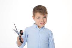 Criança em um fundo branco Imagem de Stock Royalty Free