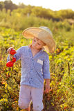 Criança em um jardim Foto de Stock