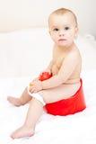 Criança em um potty imagem de stock