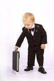 Criança em um smoking fotografia de stock