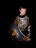 Criança em um traje Fotos de Stock Royalty Free