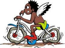 Criança em uma bicicleta Foto de Stock Royalty Free
