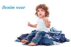 Criança encaracolado bonita fotografia de stock royalty free