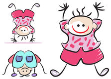 Criança engraçada ilustração royalty free