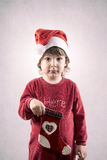 Criança engraçada do Natal imagens de stock royalty free