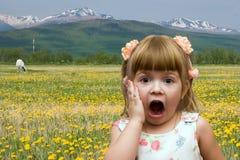 Criança expressivo Fotos de Stock Royalty Free