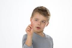 Criança expressivo no fundo vazio Foto de Stock Royalty Free