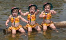 Criança fêmea com expressões fotografia de stock royalty free